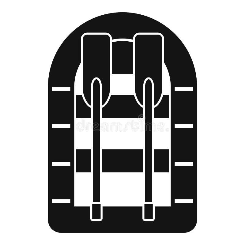 Rubberbootpictogram, eenvoudige stijl stock illustratie