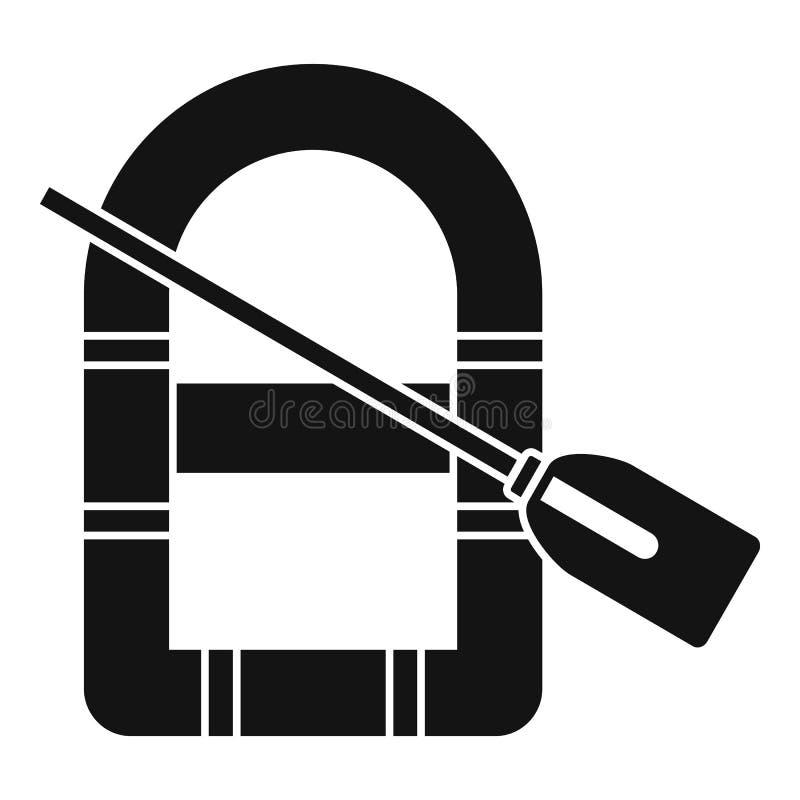 Rubberbootpictogram, eenvoudige stijl vector illustratie
