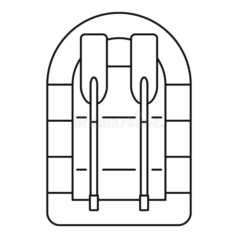 Rubberbootpictogram, overzichtsstijl vector illustratie