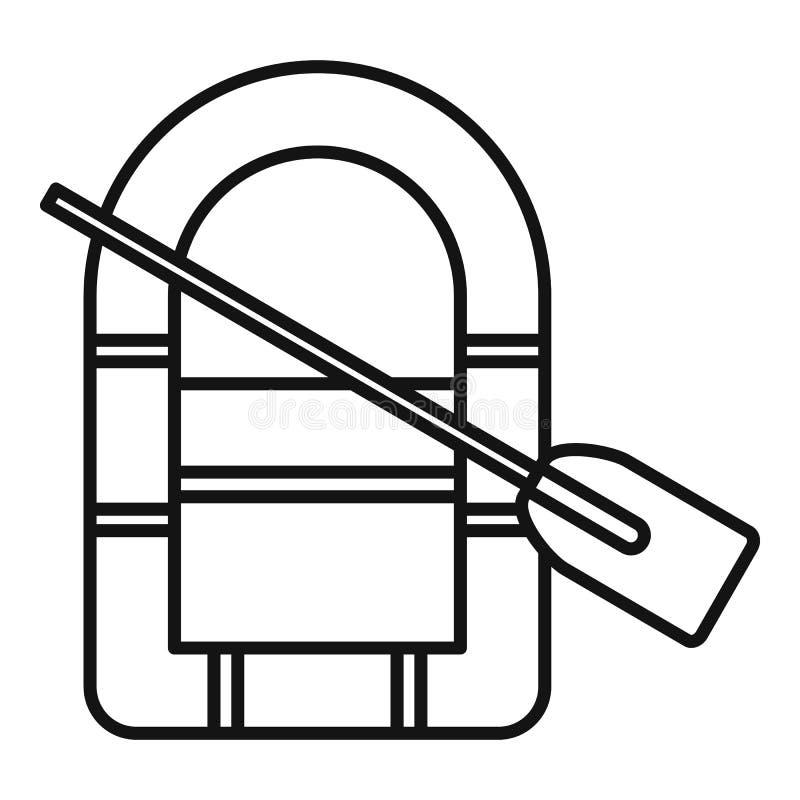 Rubberbootpictogram, overzichtsstijl stock illustratie