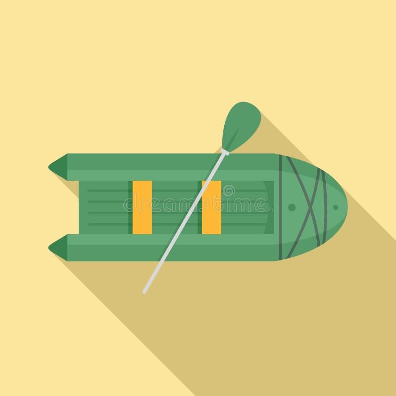 Rubberbootpictogram, vlakke stijl vector illustratie