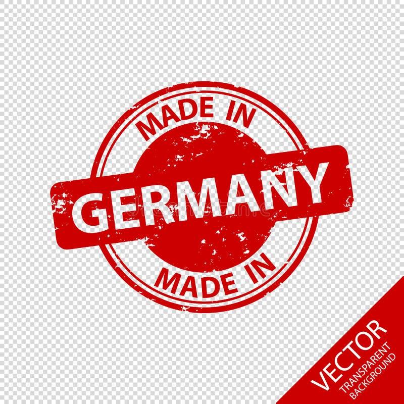 RubberdieZegelverbinding in Duitsland - VectordieIllustratie wordt gemaakt - op Transparante Achtergrond wordt geïsoleerd vector illustratie