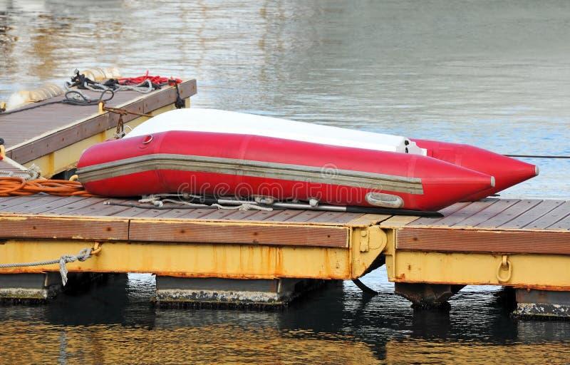 Rubbermotorboot stock foto