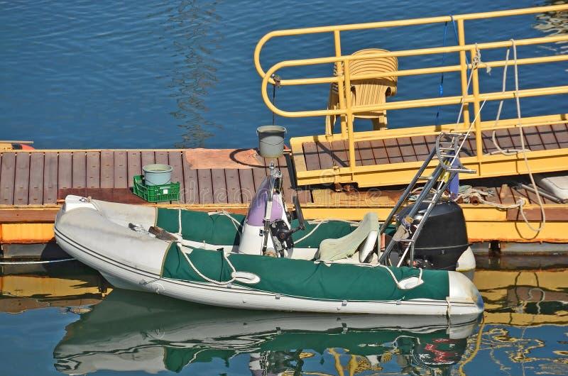 Rubbermotorboot royalty-vrije stock fotografie