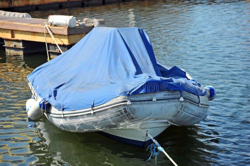 Rubbermotorboot royalty-vrije stock foto's