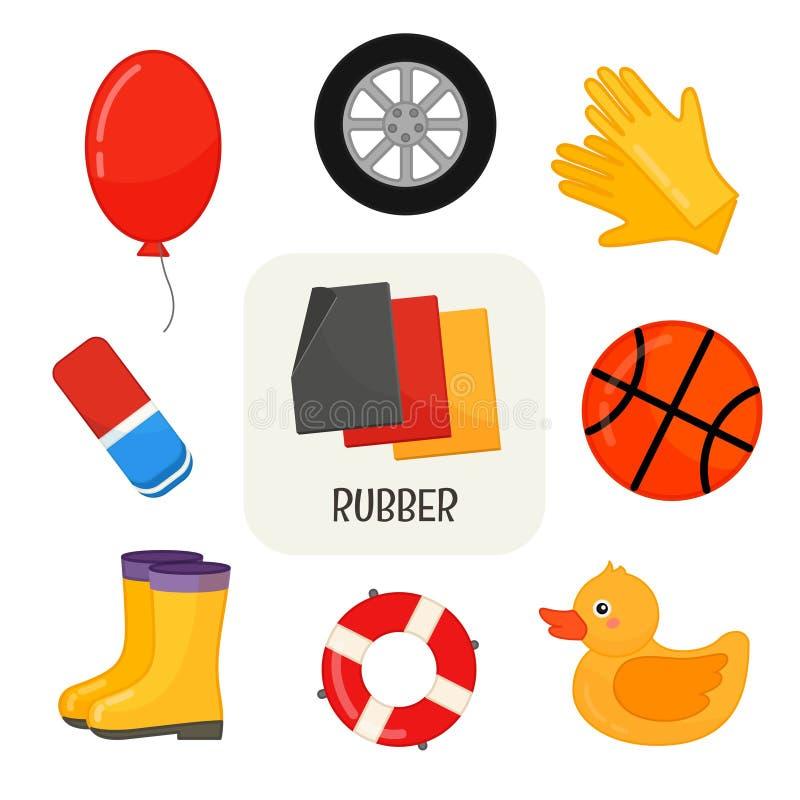 rubberproducten stock illustratie
