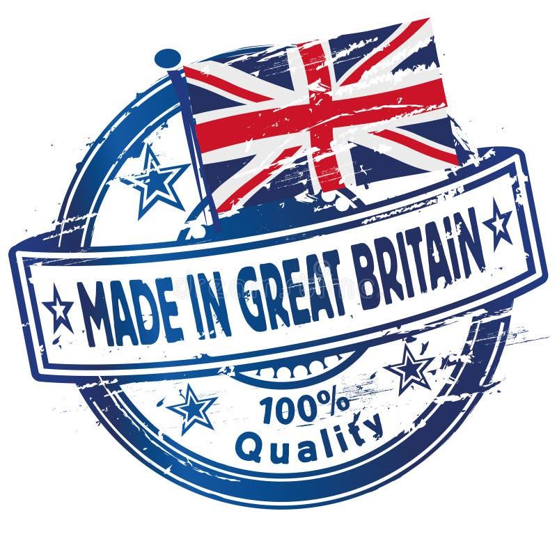 Rubberzegel die in Groot-Brittannië wordt gemaakt royalty-vrije illustratie
