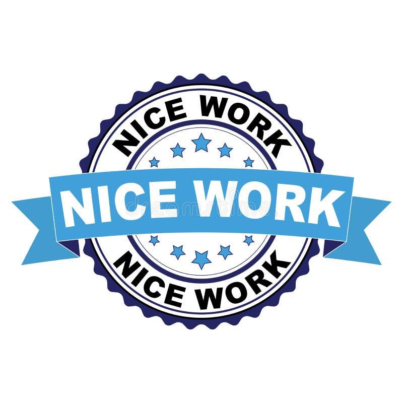 Rubberzegel met het Werkconcept van Nice stock illustratie