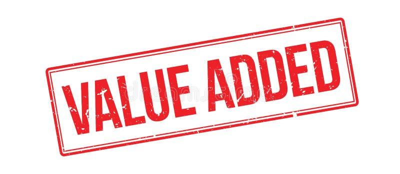 Rubberzegel op de toegevoegde waarde royalty-vrije illustratie