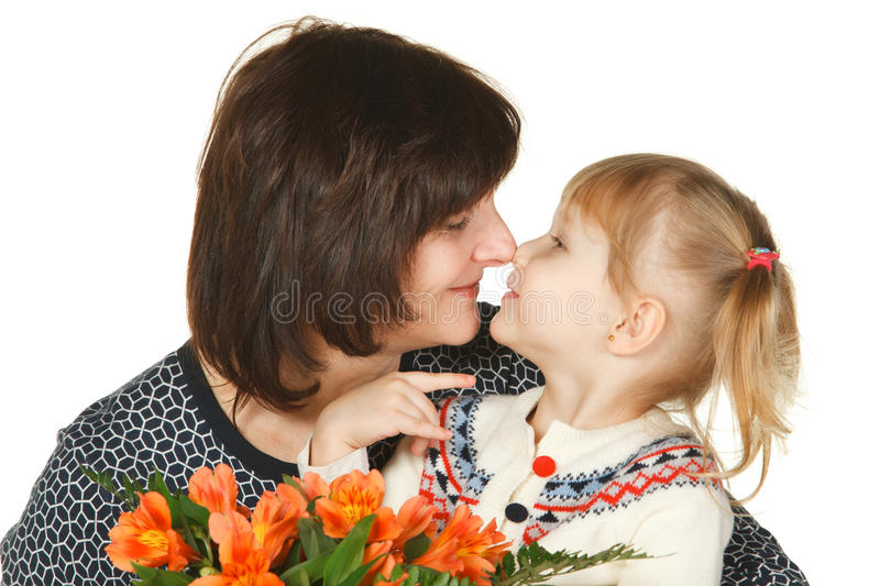 Rubbing Noses Royalty Free Stock Photography