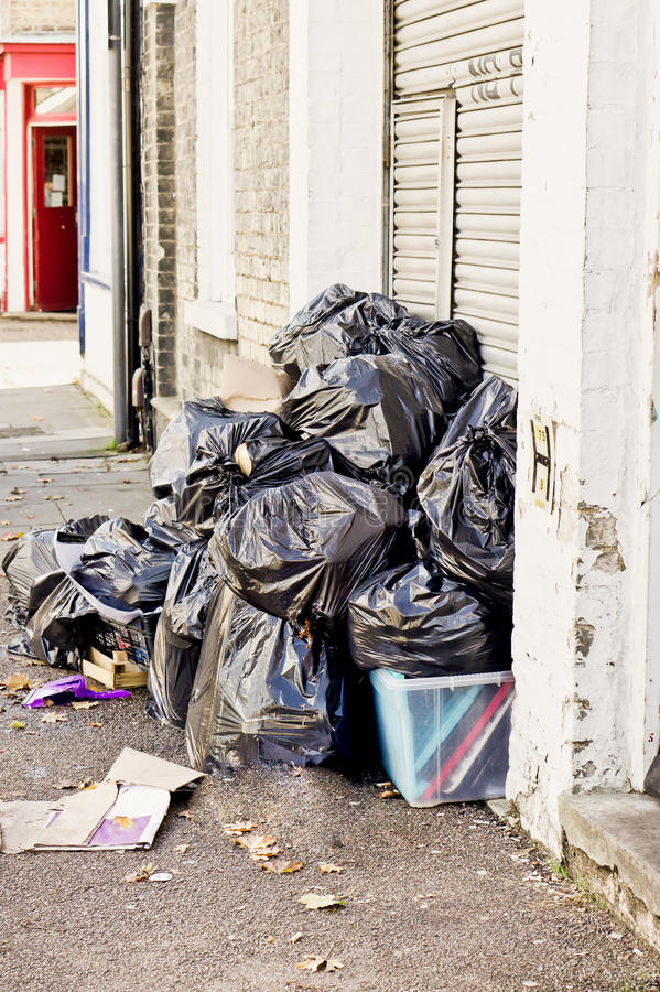 Rubbish bags royalty free stock photo