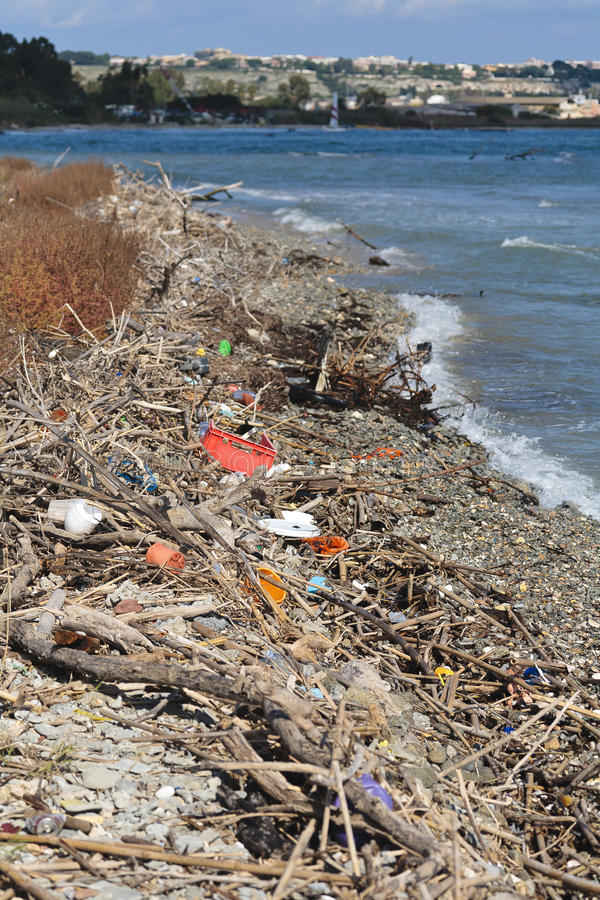 Download Rubbish on beach stock photo. Image of unusable, outdoors - 15894352