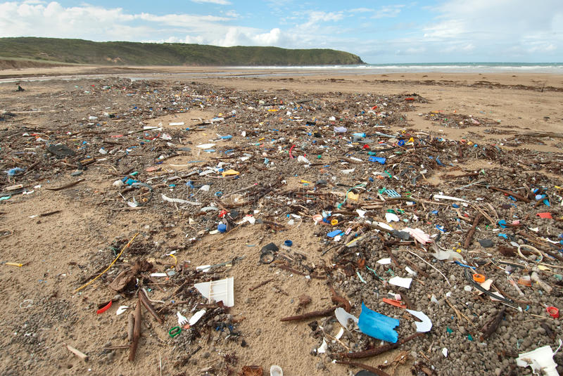 Download Rubbish on Beach stock image. Image of clean, shameful - 9660863