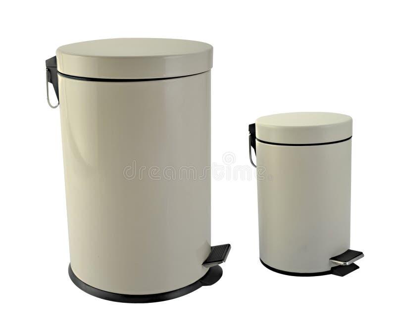 Rubbish bin. Isolated image of two rubbish bin stock images