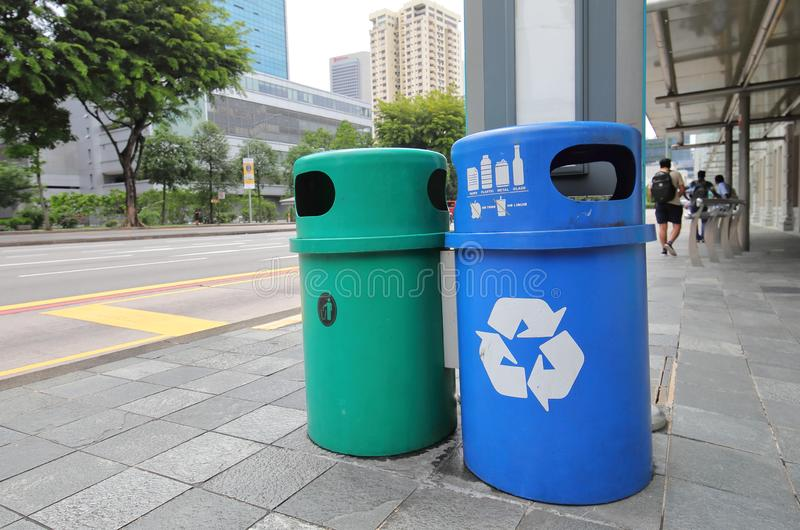 Rubbish bin Singapore royalty free stock photography