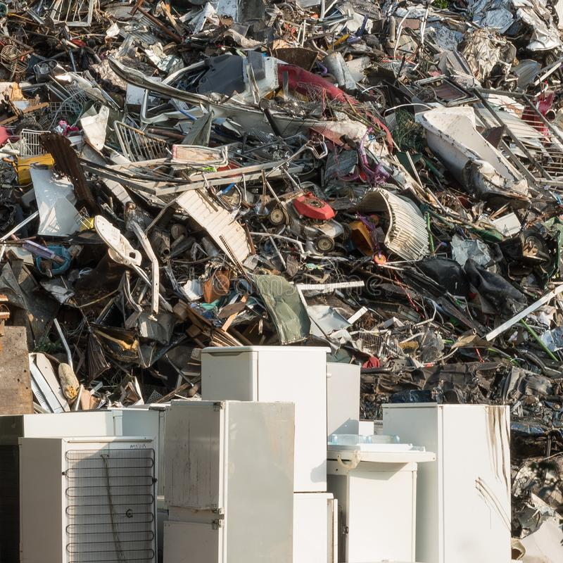 Refrigerators at the Rubbish Dump, Catsfield, East Sussex, UK royalty free stock images