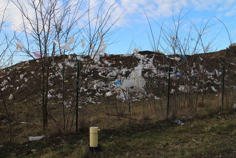 Rubbish dump near Stupava. Slovakia stock images