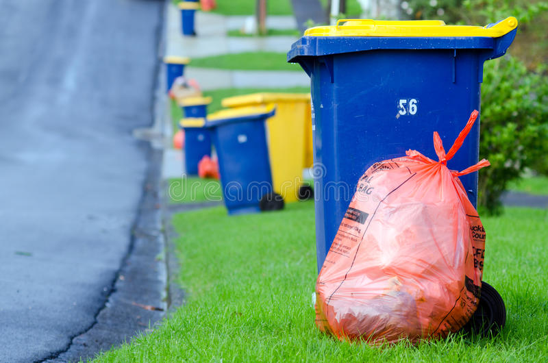 Rubbish and recycling royalty free stock images
