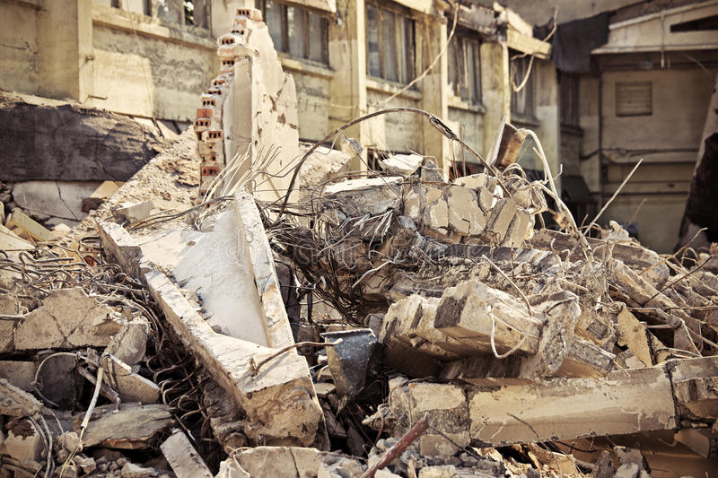 Download Rubble stock photo. Image of destroyed, cement, demolition - 26001024