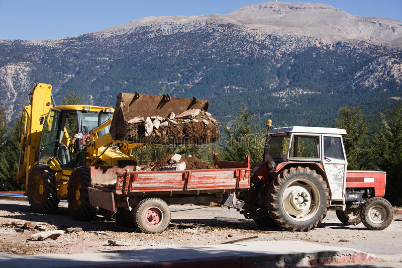 Download Rubble loading stock photo. Image of equipment, east - 17055238