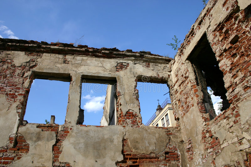 Rubble in oldtown royalty free stock images