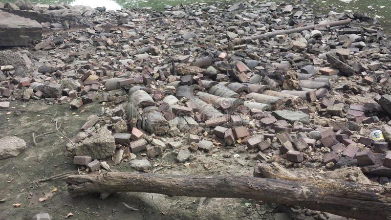 The rubble royalty free stock photography