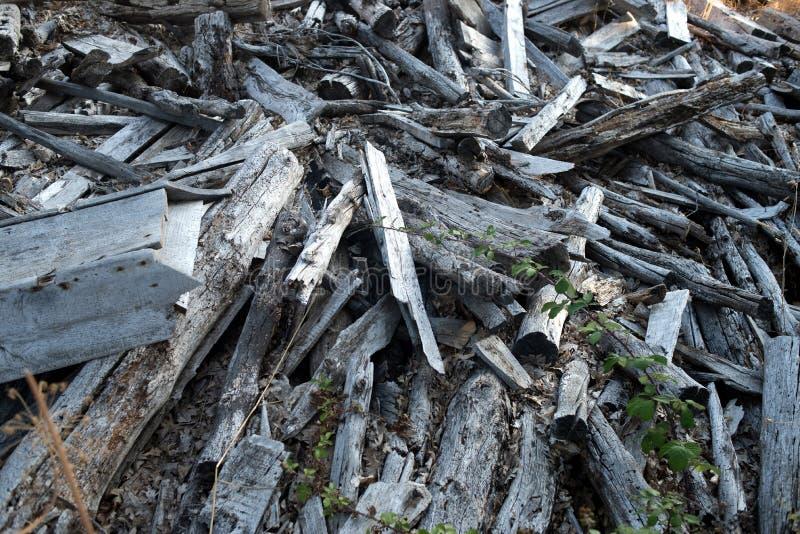 Rubble, wood debris royalty free stock photos