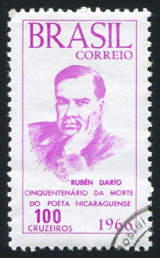 Ruben Dario imprimiu por Brasil fotografia de stock royalty free