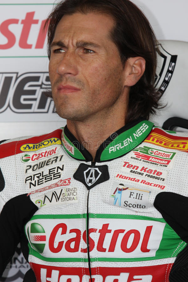 Ruben Xaus - Honda CBR1000RR - Castrol Honda imagen de archivo libre de regalías