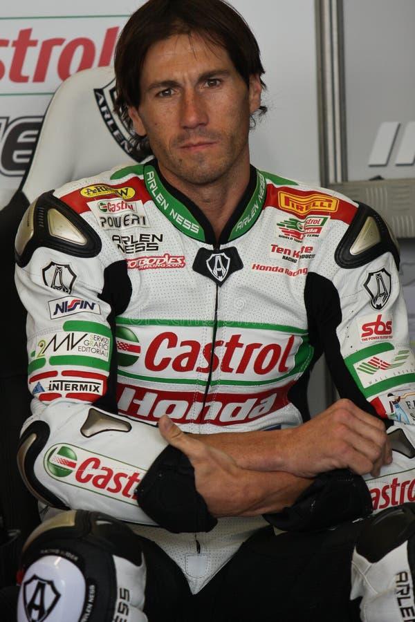 Ruben Xaus - Honda CBR1000RR - Castrol Honda fotos de archivo libres de regalías