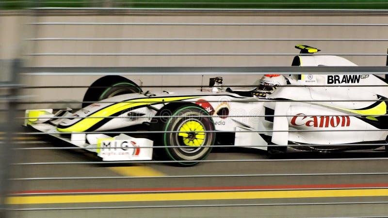 Rubens Barrichello, das in Singapur F1 2009 kennzeichnet lizenzfreies stockfoto