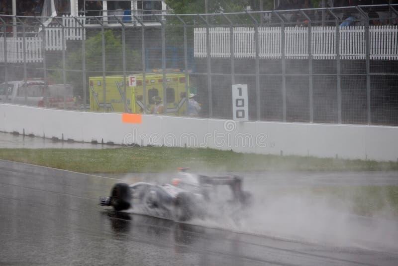 Rubens Barrichello que compete no prix grande de Montreal imagem de stock