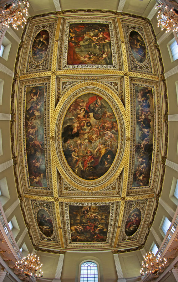 The Rubens Ceiling, Banqueting House royalty free stock photo