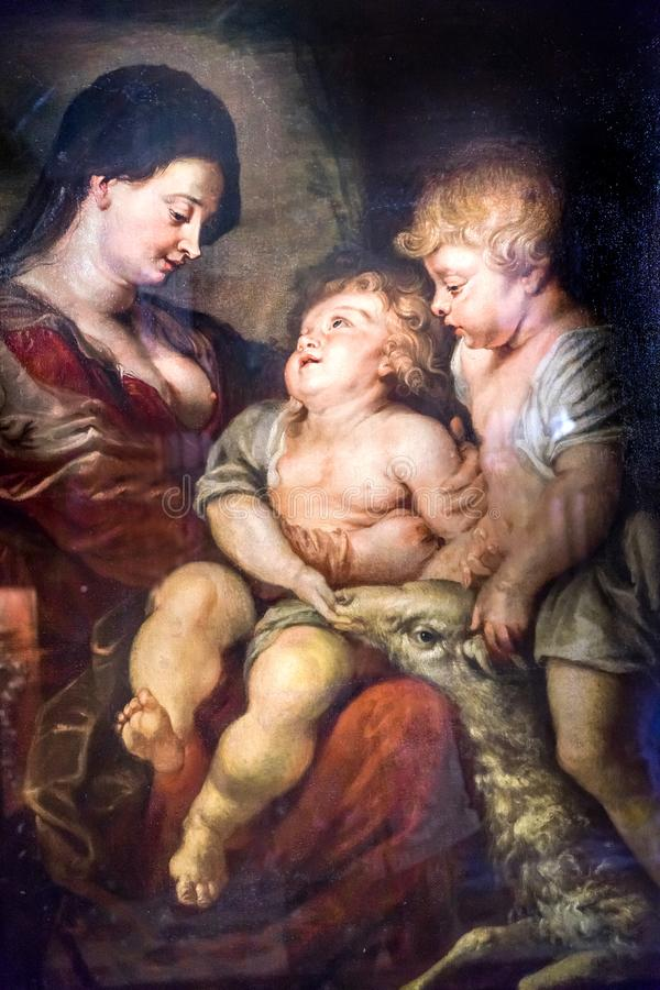Rubens Painting Santa Maria Giglio Zobenigo kyrka Venedig Italien royaltyfri foto
