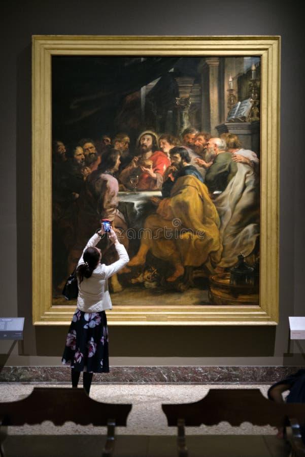 Rubens que pinta a galeria de arte de Brera, Milão fotografia de stock royalty free