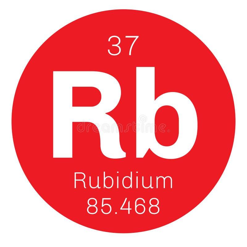 Rubidium chemisch element royalty-vrije illustratie