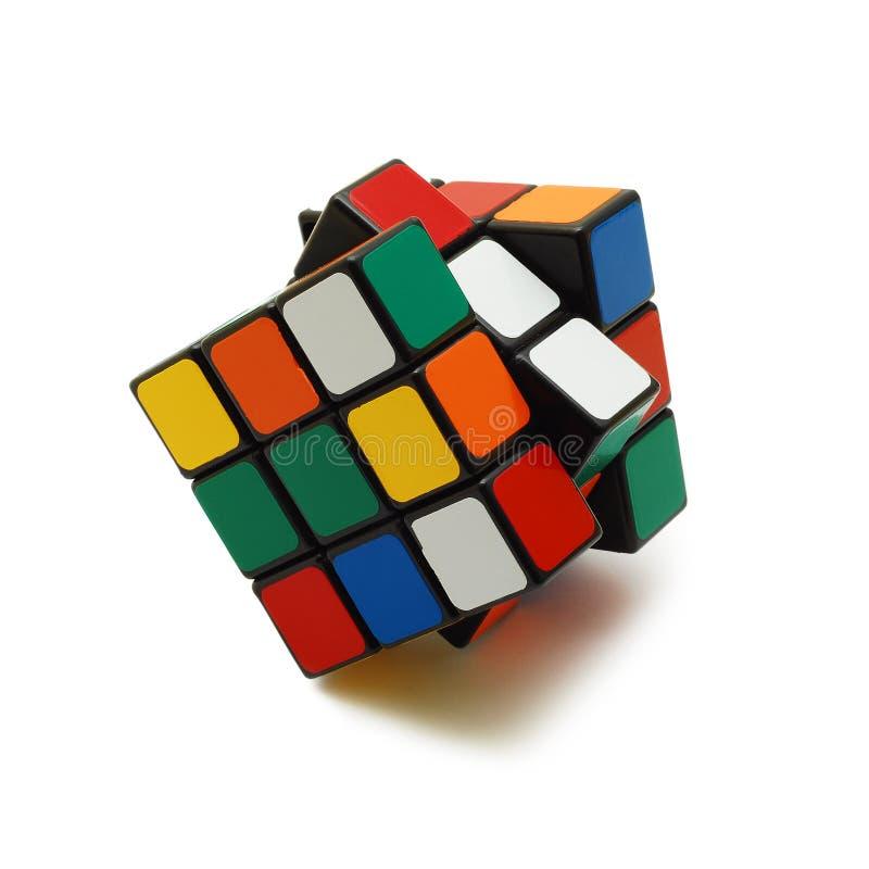 rubik изолированное кубиком s стоковое фото