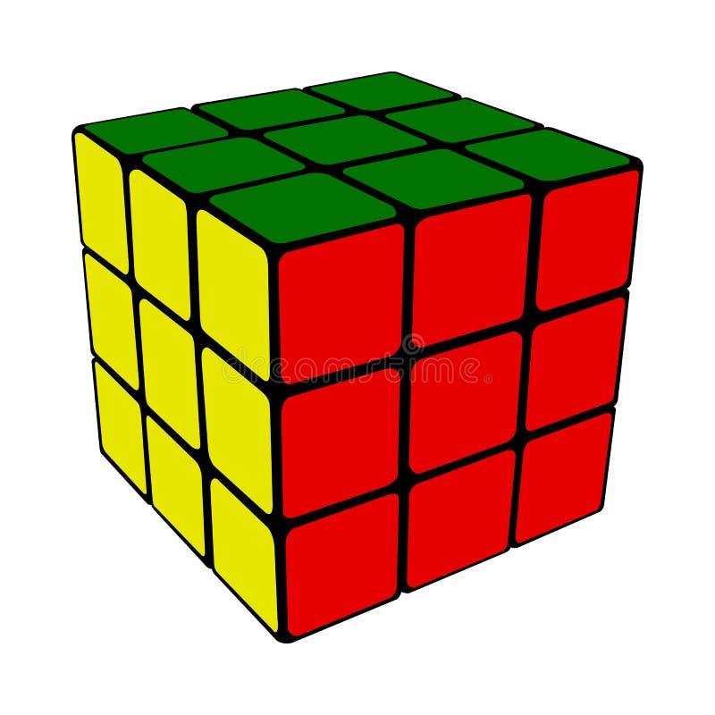 Rubik cube royalty free illustration