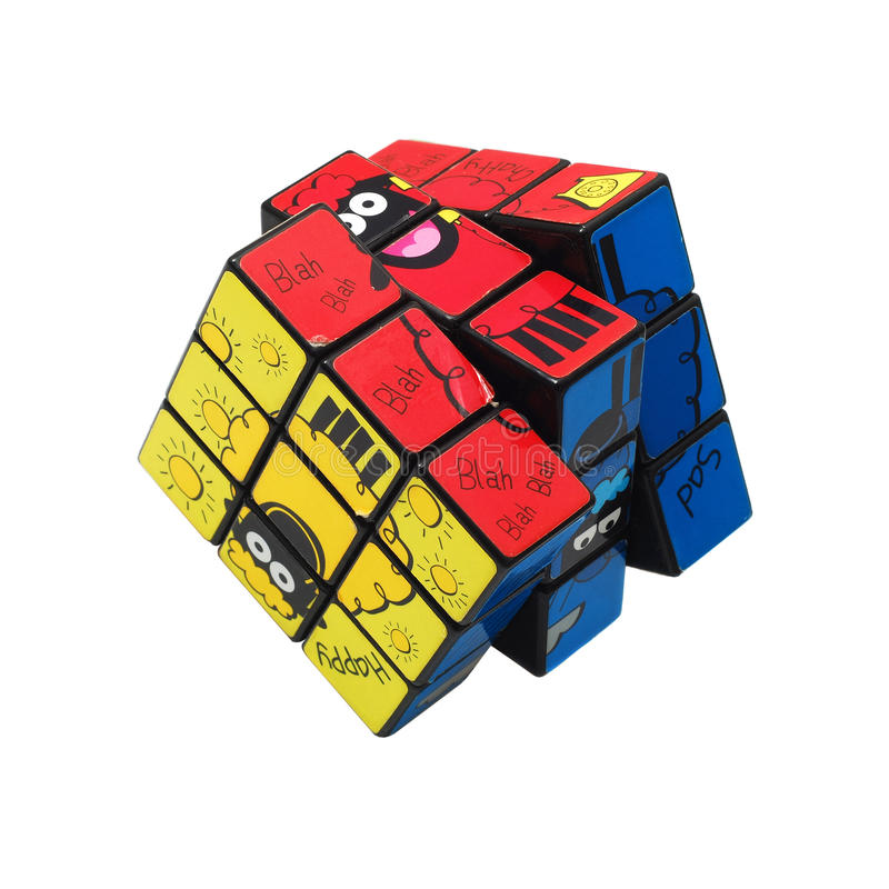 Rubik cube stock photo