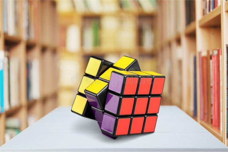 Rubik. Cube puzzle teaser brain game mind stock photos