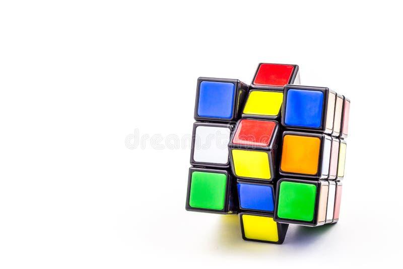Rubik cube. On a white background royalty free stock photo