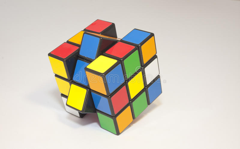 Rubik's cube. World famous rubik's cube for hours of puzzling fun stock photos
