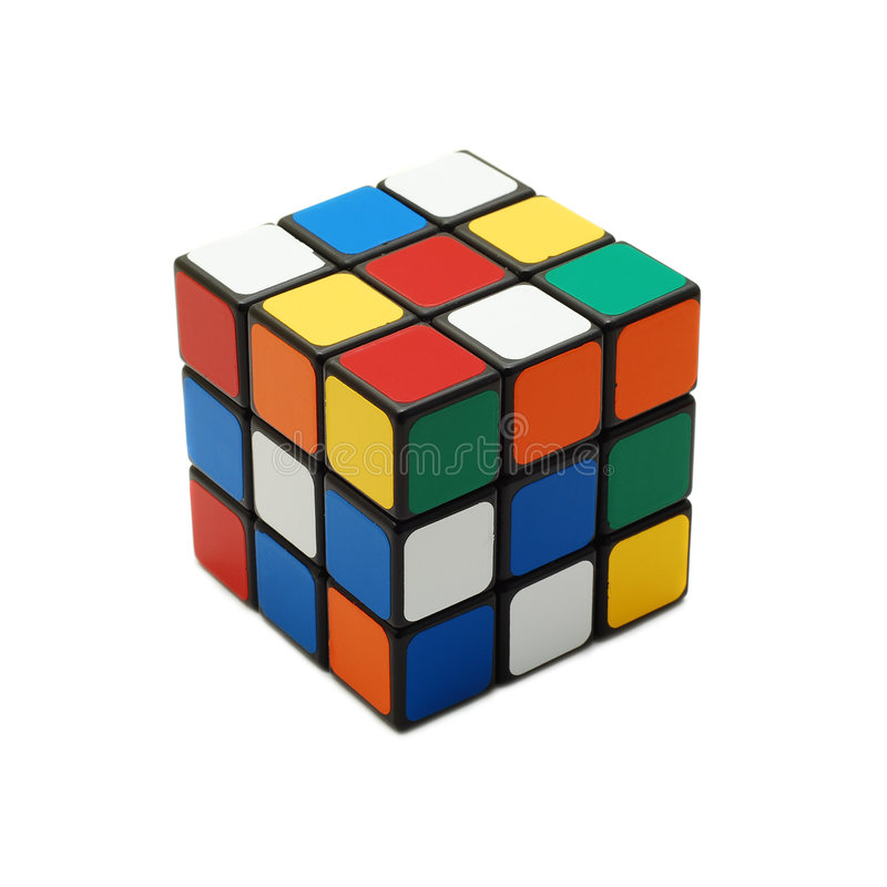 Rubik's cube stock photo