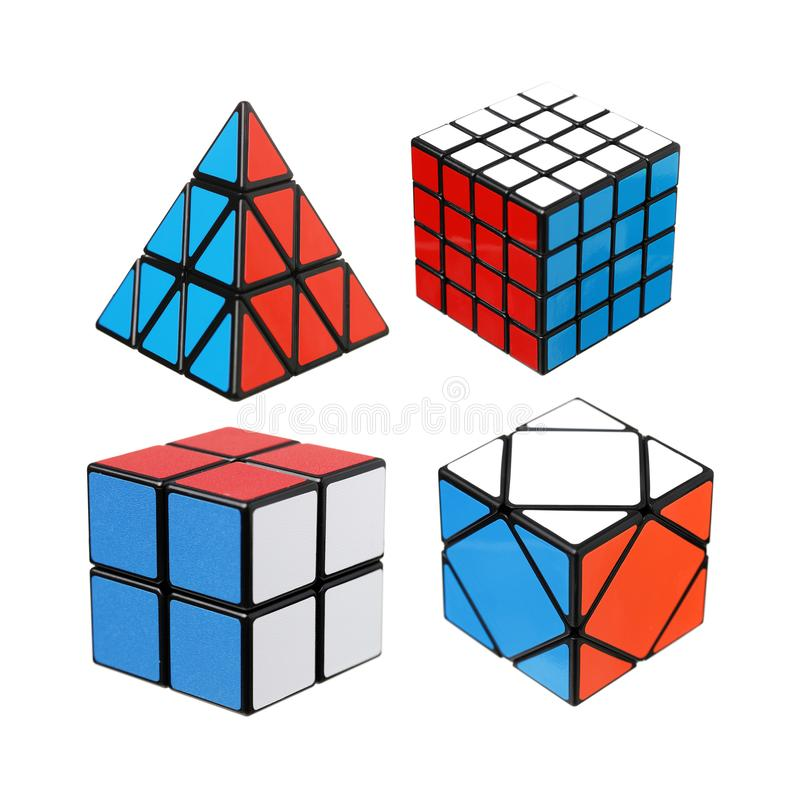 Rubik`s cube for Brain training stock image
