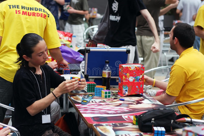 Rubik`s cube competition