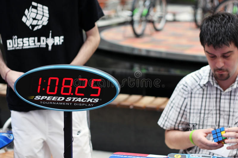 Download Rubik`s cube competition editorial stock image. Image of contest - 14992084