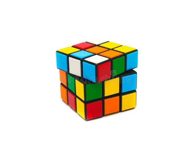 Rubik s kub royaltyfria bilder