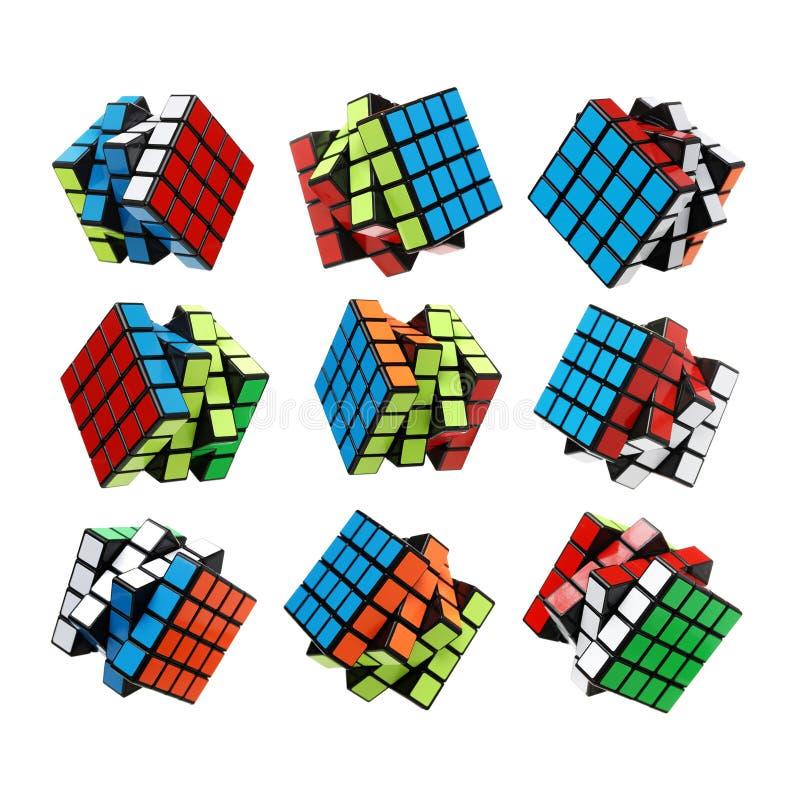 Rubik` s Kubus stock foto's