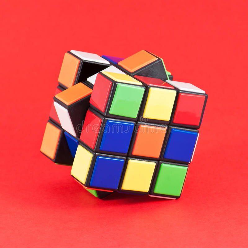 Rubiks kub royaltyfri fotografi