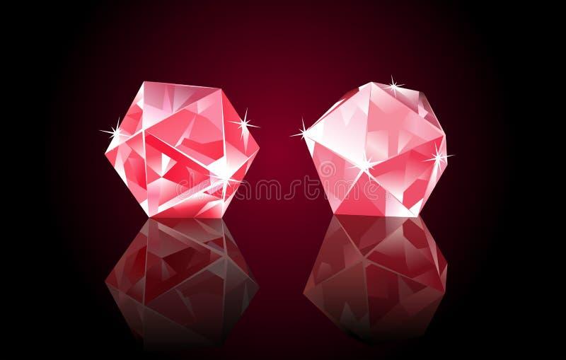 Rubin Diamonds stock illustration